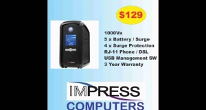 Protect Your Computers, Servers, Routers with a Battery Backup from Impress
